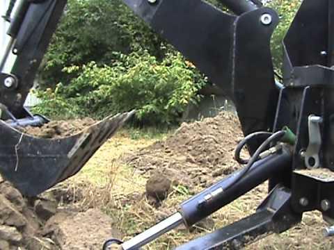 My John Deere >> BHM-175 Backhoe Attachment On My John Deere - YouTube