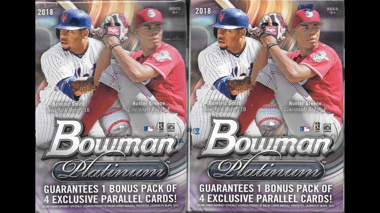2018 Bowman Platinum Baseball 2 Blaster Box Break