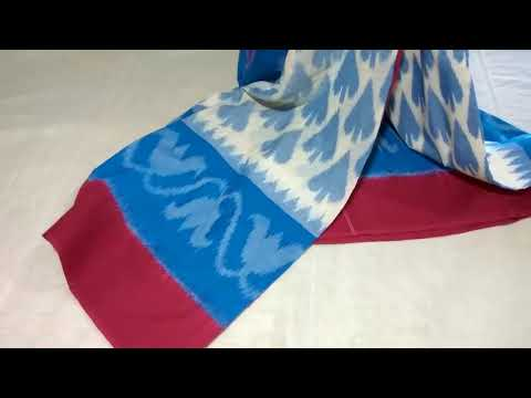 pochampally ikkat   Mercerized  Cotton Sarees||Unbox of pochampally cotton sarees||Handloom cotton