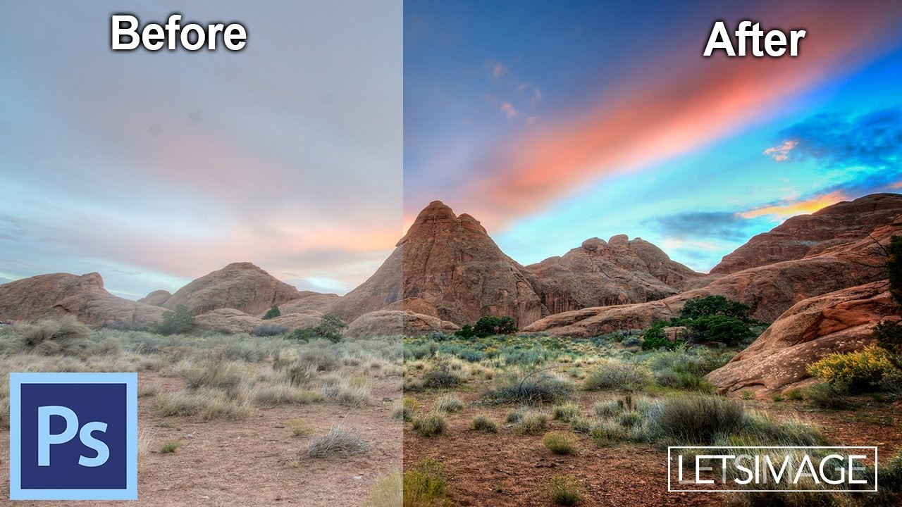 how to post process landscape images in photoshop