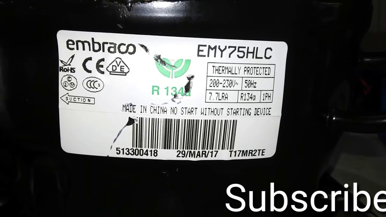 hight resolution of embraco compressor connections with ptc relay and starting capaciter in urdu hindi by engineer muh