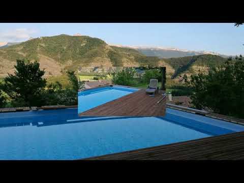 Piscine panoramique partir d 39 une piscine intex tubulaire youtube - Piscine semi enterree acier ...