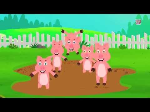 Five Little Piggies  Nursery Rhyme  Ba