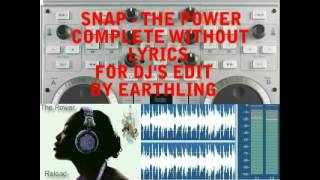 Snap - The power Instrumental Mix Complete without Lyrics