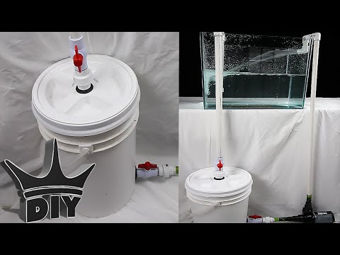 HOW TO: Build an XL aquarium canister filter with a 5 gallon bucket - 2 of 2