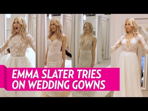 DWTS' Emma Slater Tries On Her Dream Wedding Gowns