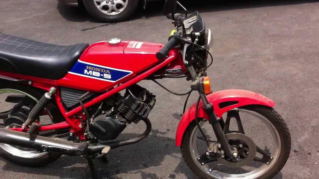 honda mb5 50cc red2 youtube