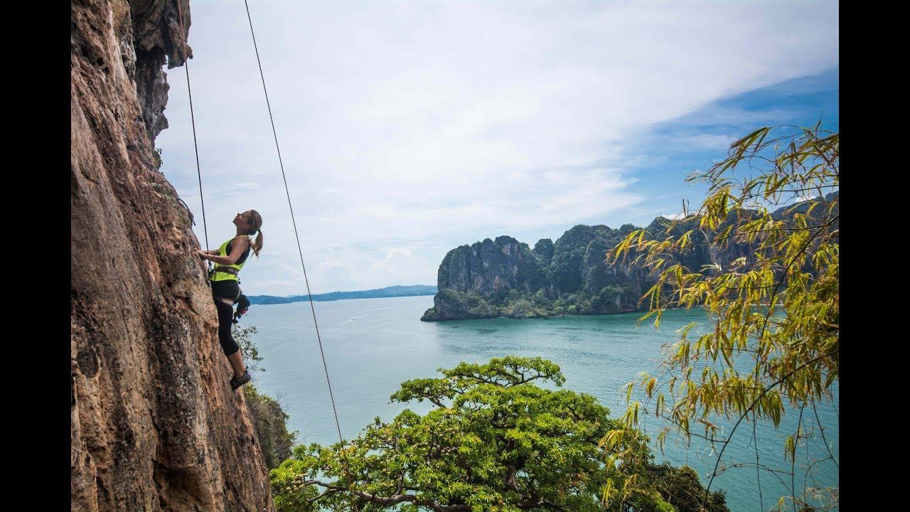 Rock Climbing At Railay Beach Krabi Thailand 2018