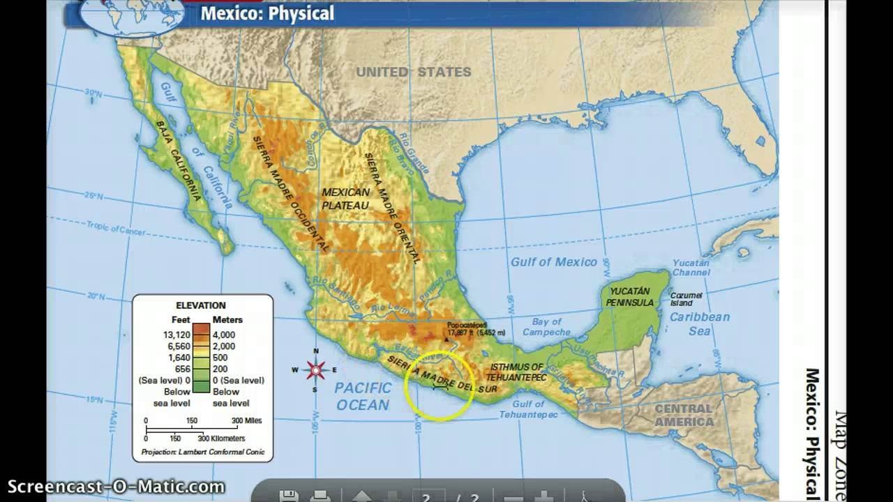Mexico\'s Physical Features - YouTube