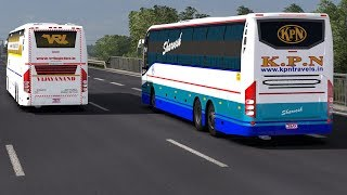 Download Video 🔴 Volvo Bus Top Speed | 110+ KMPH KPN Sleeper Bus Overtaking VRL Travels | High Traffic MP3 3GP MP4