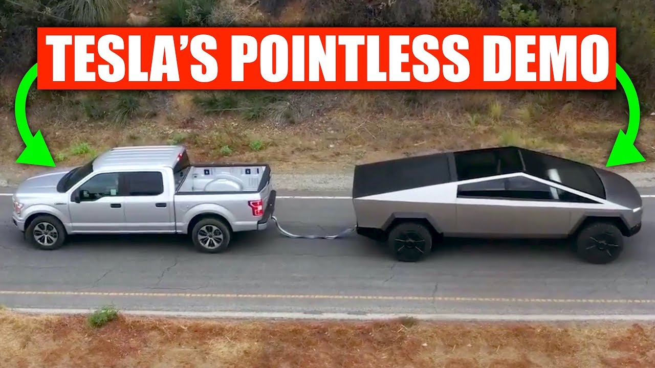 Tesla's Cybertruck Tug-of-War Stunt Was Pointless