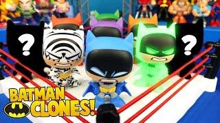 CRAZY BATMAN Toys Shake Rumble w/ Batman Clone Mystery Minis Unboxing by KIDCITY