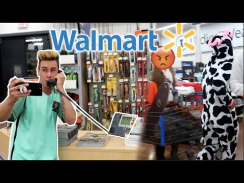 FAKE WALMART SECURITY TRIED TO KICK US OUT! (COPS CALLED) - YouTube