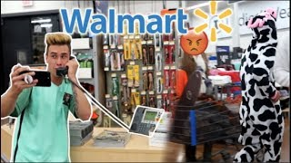 FAKE WALMART SECURITY TRIED TO KICK US OUT! (COPS CALLED)