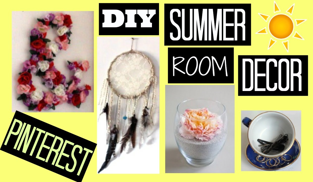 diy summer room decor pinterest maddie ryles youtube. Black Bedroom Furniture Sets. Home Design Ideas