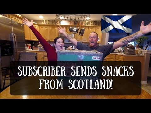 SUBSCRIBER SENDS SNACKS FROM SCOTLAND! (UNBOXING)
