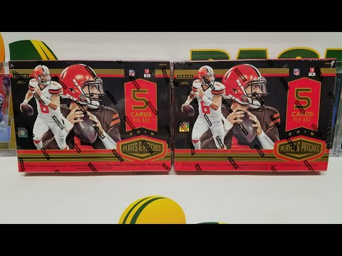 2018 Panini Plates & Patches Football 2 Box Opening