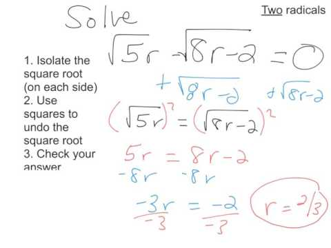 Solving Radical Equations including Extraneous Variables