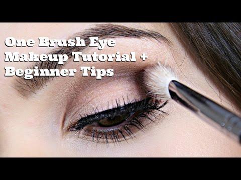 One Brush Eye Makeup Tutorial + Beginner Tips