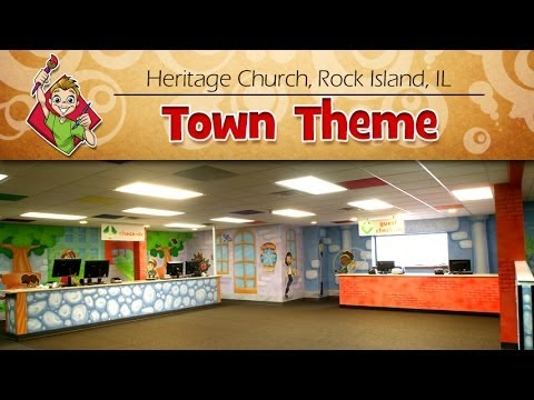 """Heritage Church """"Town"""" Children's Ministry Theme - Creative For Kids"""