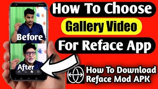 How To Use Gallery Video For Reface App    How To Use Reface App screenshot 5
