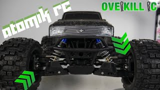 Atomik RC Upgrades Installed on the 4s LiPo Stampede 4x4 | Fail... | Overkill RC