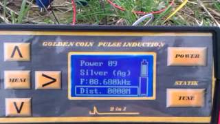 Metaldetector Golden coin pulse induction 2 in 1 Long range locator