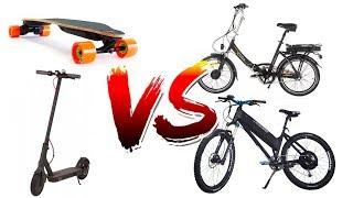Ultimate Commuting Showdown! e-bike vs e-scooter vs esk8
