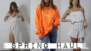 A Spring Try On Haul (Princess Polly, Uncle, Topshop) | allegralouise