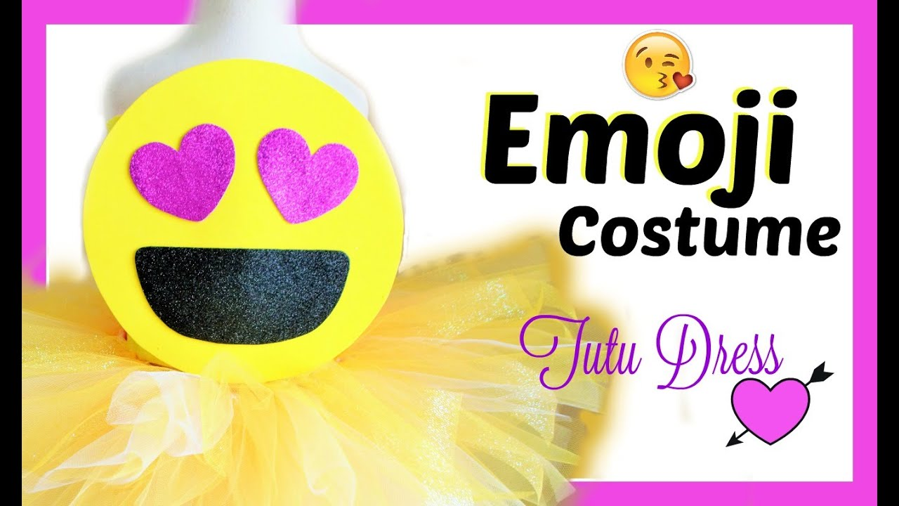 Diy emoji costume tutu dress youtube diy emoji costume tutu dress solutioingenieria Gallery