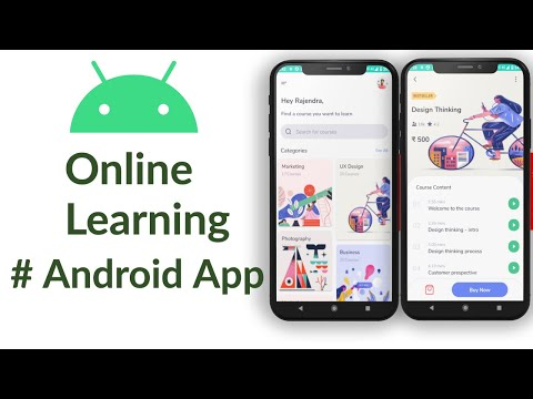 Online Learning Android App | Android Studio Tutorial