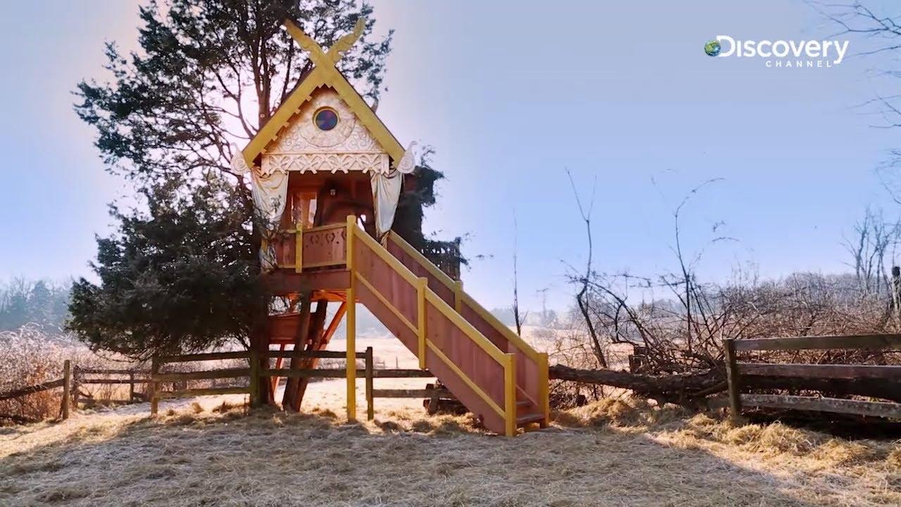Solar Powered Spirit House  Treehouse Masters  YouTube