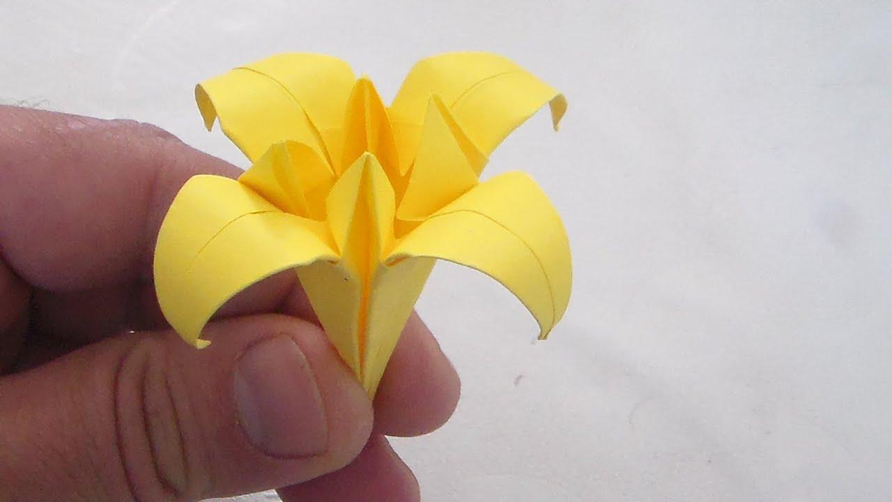 Fleure de lys ou yris niveau 4 origami papier activit manuel youtube - Origami fleur de lys ...