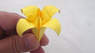 fleure de lys ou yris niveau 4 origami /papier/activité manuel