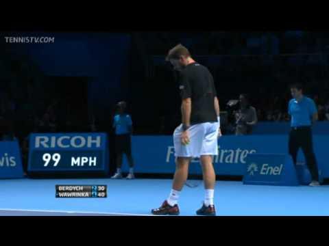 Berdych Vs Wawrinka Barclays ATP World Tour Finals 2013 Round-Robin 1st Set