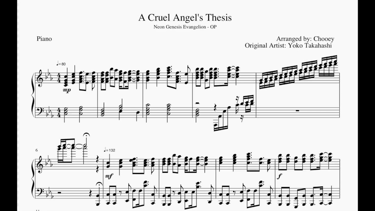 cat piano cruel angels thesis