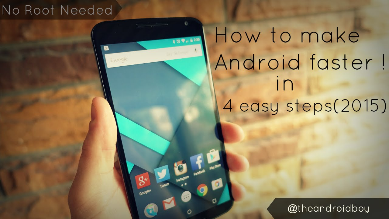 how to make your android faster