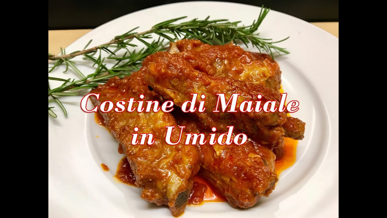 Costine di maiale in umido piatto saporito youtube for Ricette culinarie
