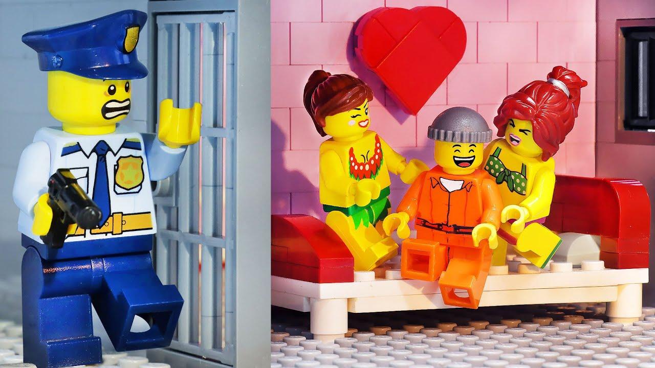 If My Wife Runs a Prison | LEGO City Prison Break | Escape From The Secret Love Room