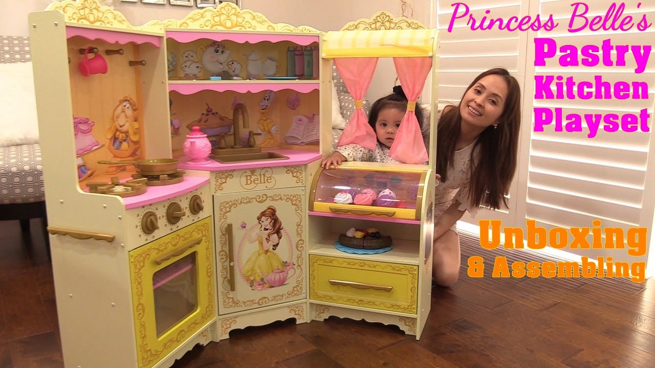 Beauty The Beast Disney Princess Belle Pastry Kitchen Playset Unboxing A Cooking Playset