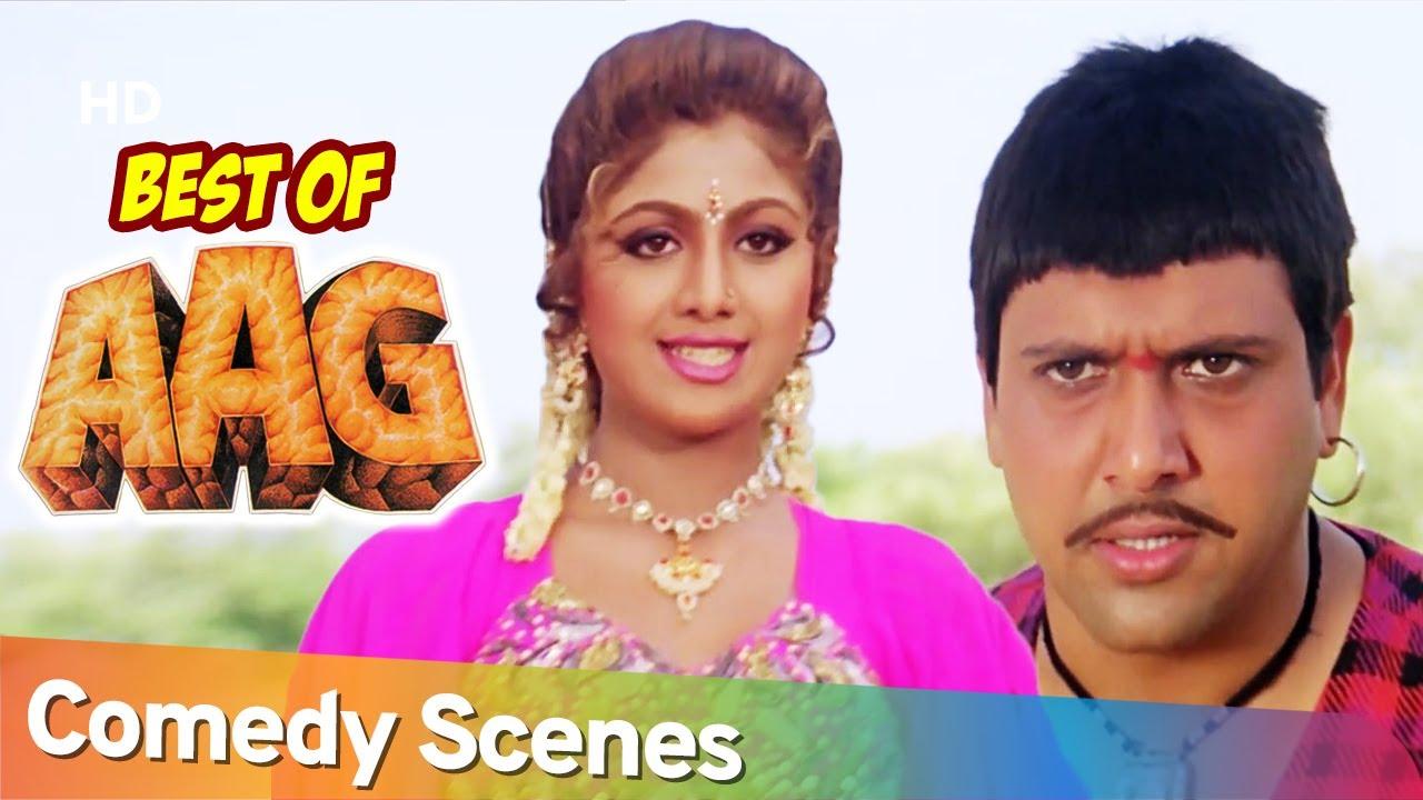Aag 1994 - Superhit Comedy Scenes - Govinda - Kader - Khan - Bollywood Comedy Scenes.