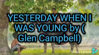 Young with lyrics (glen campbell ...