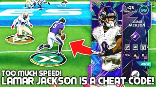 Lamar Jackson is a Madden CHEAT CODE! Too Much Speed! Madden 21