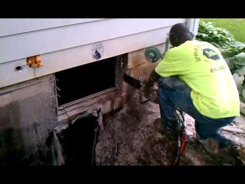 Cutting Concrete Foundation Wall For Egress Window1 Youtube