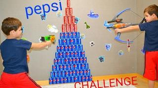 Нерф против ПЕПСИ! ЧЕЛЛЕНДЖ! AMAZING COCA COLA VS  PEPSI CHALLENGE NERF WAR!  Twin toys  Blaster!