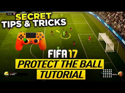 FIFA 17 PROTECT THE BALL TUTORIAL - SECRET PUSH BACK TECH TIPS & TRICKS -  NEW SHIELDING TECHNIQUE