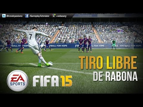 FIFA15 | TUTORIAL Tiro Libre de Rabona - Freekick Tutorial