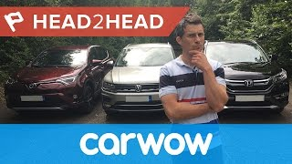 Volkswagen Tiguan vs Honda CR-V vs Toyota RAV4 review | Head2Head