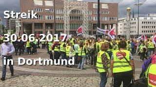 Streikkundgebung Ver.di 30.06.2017 in Dortmund