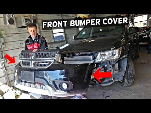 DODGE JOURNEY FRONT BUMPER COVER REMOVAL REPLACEMENT. FIAT FREEMONT
